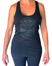 Load image into Gallery viewer, D-Dey Black on Black Crest Women's Tank Top - Soft, Comfortable and Pre-Shrunk