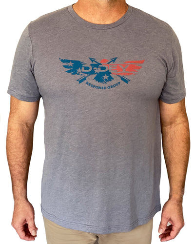 D-Dey Heather Storm Patriotic T- Shirt, Soft, Comfortable and Pre-Shrunk