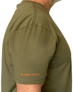 D-Dey Military Green and Orange Crosshair T - Shirt, Soft, Comfortable and Pre-Shrunk