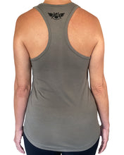 Load image into Gallery viewer, D-Dey Warm Gray Circle and Arrows Women's Tank Top, Soft, Comfortable and Pre-Shrunk