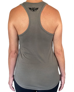 D-Dey Warm Gray Circle and Arrows Women's Tank Top, Soft, Comfortable and Pre-Shrunk