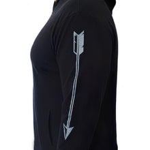 Load image into Gallery viewer, The OG Hoodie - Black lightweight, but durable hoodie. Perfect for layering. The OG hoodie is unisex.