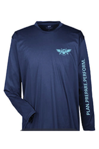 D-Dey, Marine Blue, Long Sleeve, Cool and Dry Sport Performance Interlock T-Shirt