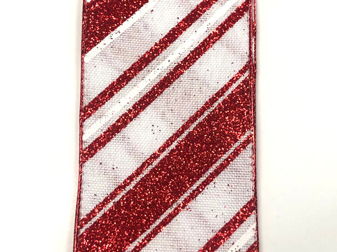 Candy Cane Striped Ribbon
