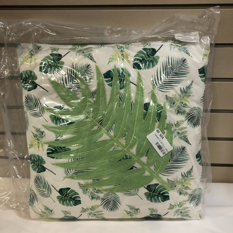 Fern Pillow with Leaves