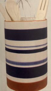 Blue & White Utensil Holder