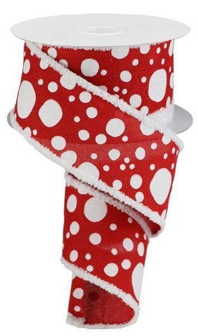 Red and White Dots Ribbon