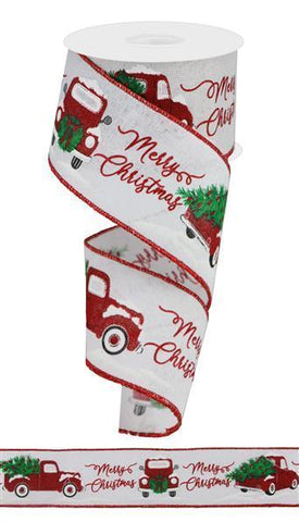 Red & Green Red Truck Ribbon