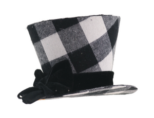 Black and White Checkered Hat