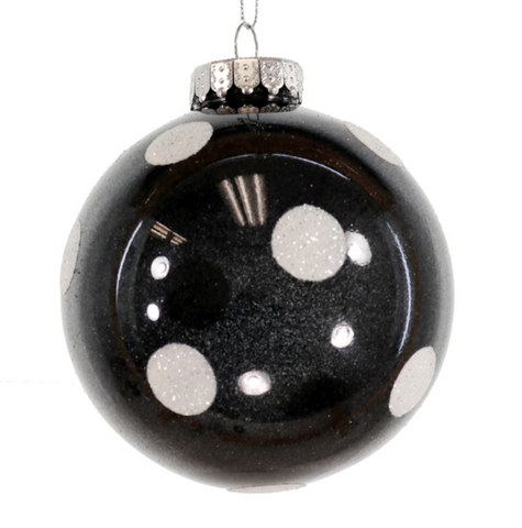 Black and White Polka Dot Ornament