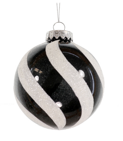 Black and White Stripe Ornament