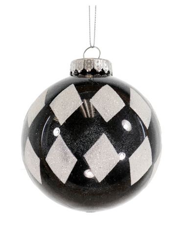 Black and White Diamond Ornament