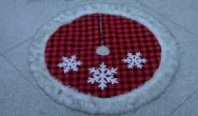 Red and Black Checkered Tree Skirt