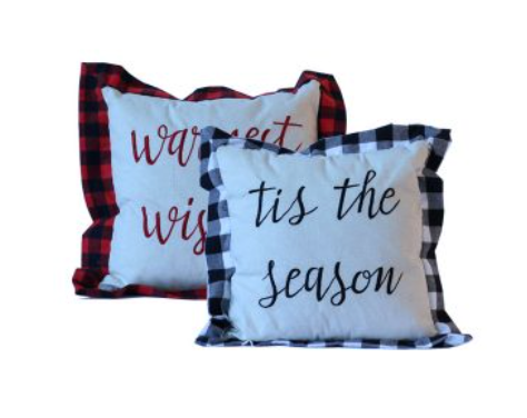 Checkered Edge Pillow