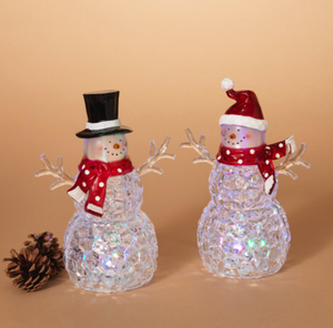 Lighted Acrylic Snowman