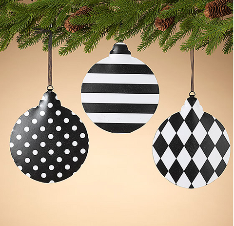 Black and White Ornament
