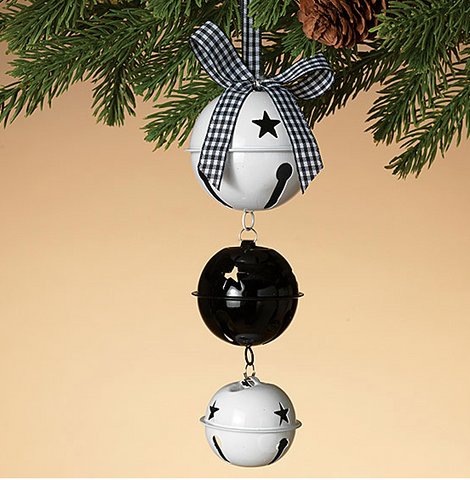 Black and White Metal Jingle Bell Chain