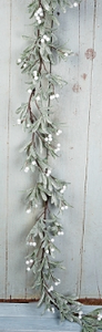 Frosted Mistletoe Garland