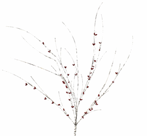 Faux Birch Red Berry Branch