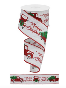 Red Truck Ribbon 2.5""