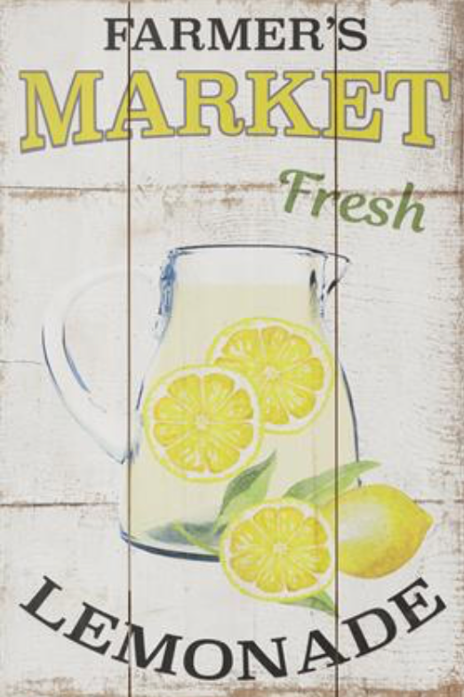 Farmers Market Lemonade Sign