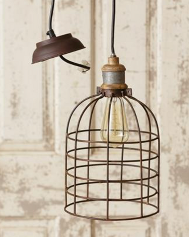 Pendant Lamp- Caged Dome