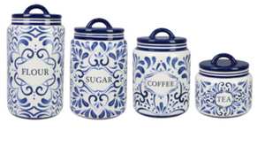 Blue and White Talavera Canister