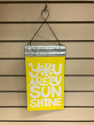 Yellow Hanging Sign