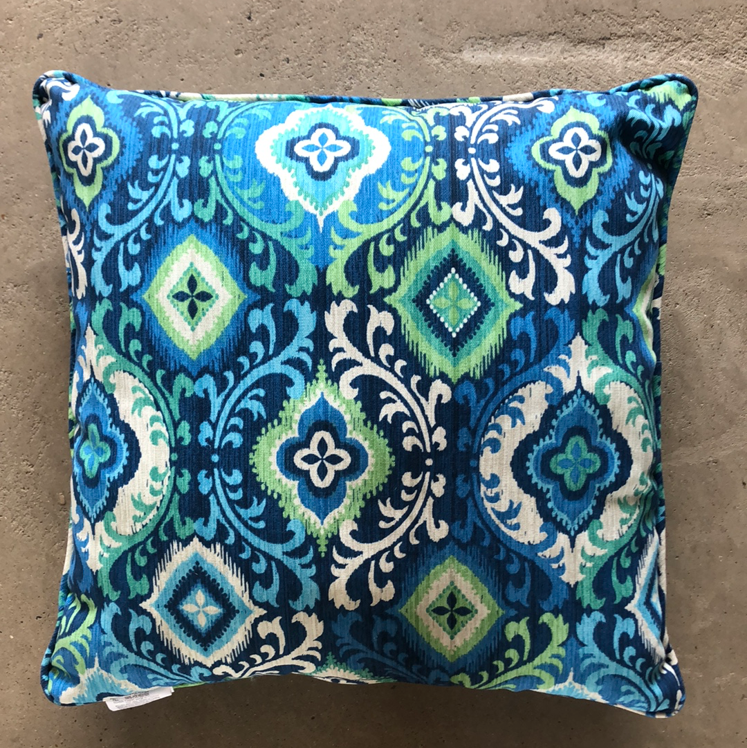 Blue & Turquoise Outdoor Pillow