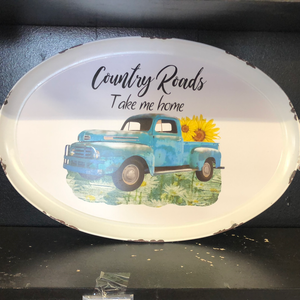 Country Roads Tray