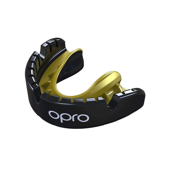 OPRO Self-Fit Gold Mouthguard for Braces - Buy now online with delivery in 1-2 days in UAE, Dubai, Abu-Dhabi.
