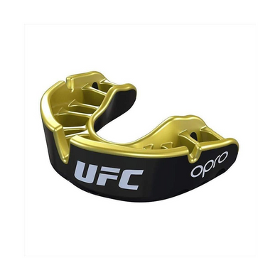 OPRO Self-Fit UFC Gold Mouthguard Black Metal / Gold - Buy now online with delivery in 1-2 days in UAE, Dubai, Abu-Dhabi.