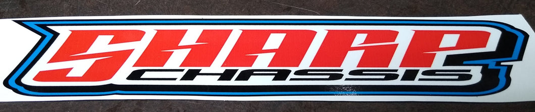 SHARP Chassis Decal 2.5x13.5
