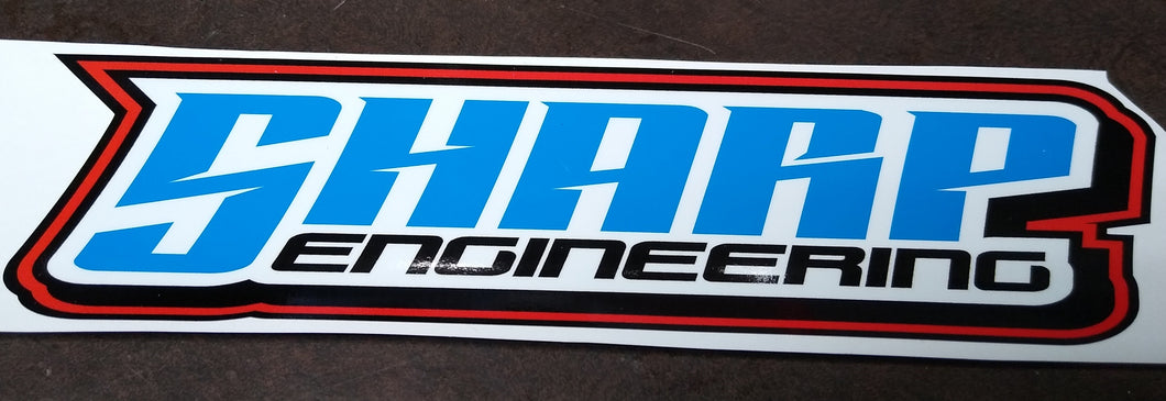 SHARP Engineering Decal 4x14