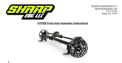 SHARP Mini Late Model Front Axle Assembly Instructions
