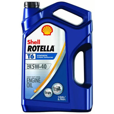 Shell Rotella T6 5W-40 Full Synthetic Engine Oil, 1 gal