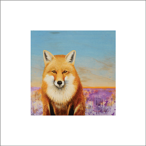 red fox gift, Asheville fox art, animal fox home decor modern art print, fox gift
