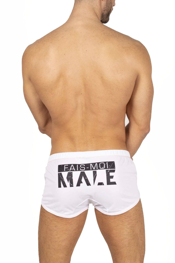 Male Identity Paris mini short blanc