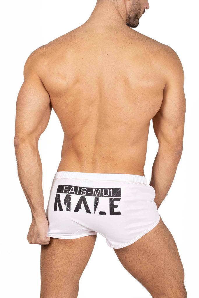 Male Identity Paris mini short blanc 2