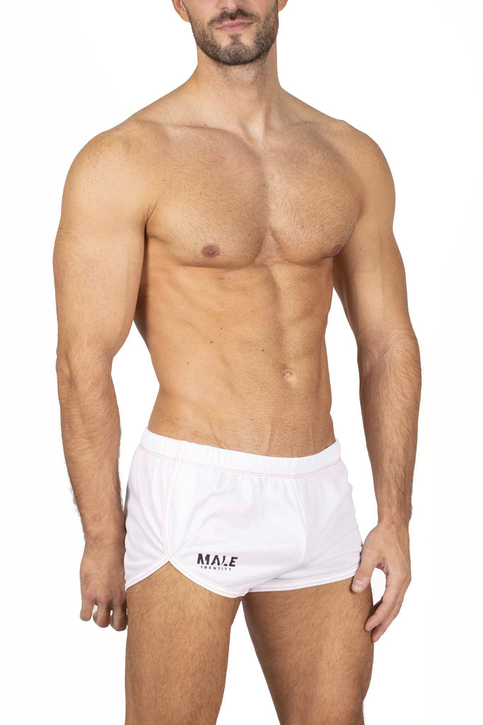 Male Identity Paris mini short blanc 3