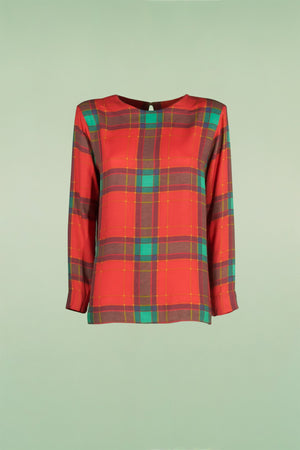 Blusa tartan Yves Saint Laurent Variation