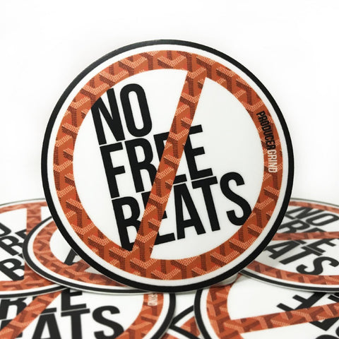 No Free Beats Sticker Pack - Producergrind