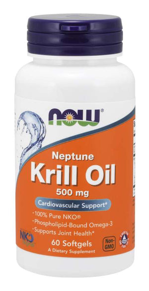 NOW Krill Oil 500mg 60 Softgels