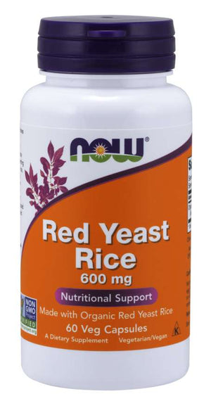 NOW Red Yeast Rice 60 Veg Capsules