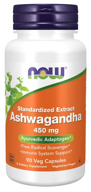 NOW Ashwagandha 450mg 90 Veg Capsules