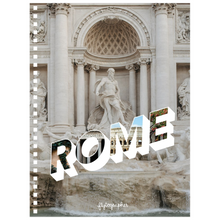 Load image into Gallery viewer, A 6.50x8.75 inch, spiral bound notebook with a picture of a place in Rome on the cover