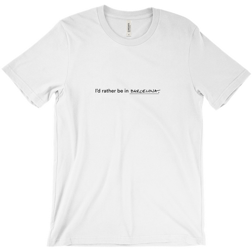 White 100% cotton jersey soft T-shirt with the words