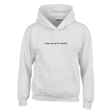 Load image into Gallery viewer, Wake Me Up for Snacks Youth Hoodie