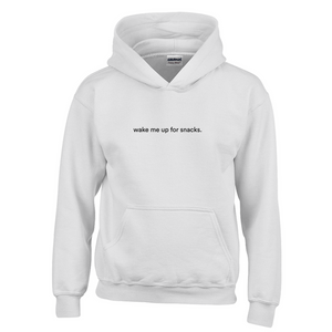 Wake Me Up for Snacks Youth Hoodie