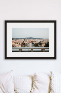 Barcelona | City View Print
